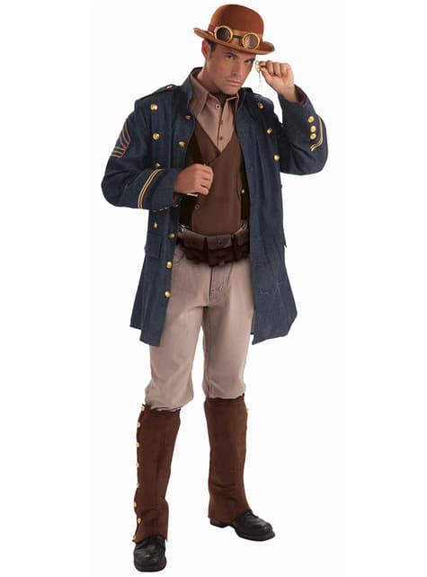 Disfraz de general Steampunk para hombre