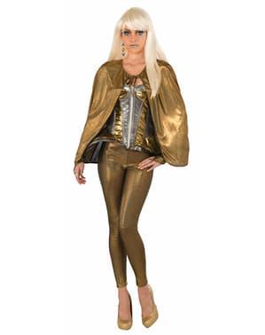 Capa futurista dourada para adulto