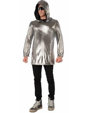 Silberne futuristische Tunika für Erwachsene
