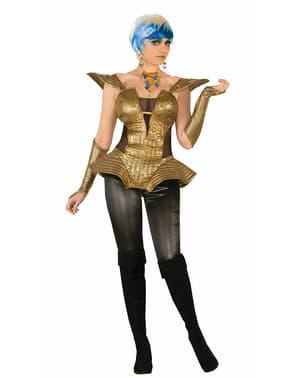 Kostuum futuristisch goud voor vrouw