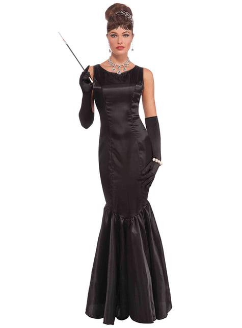Disfraz de estrella de cine Audrey para mujer