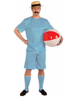 Costume da bagnante vintage per uomo