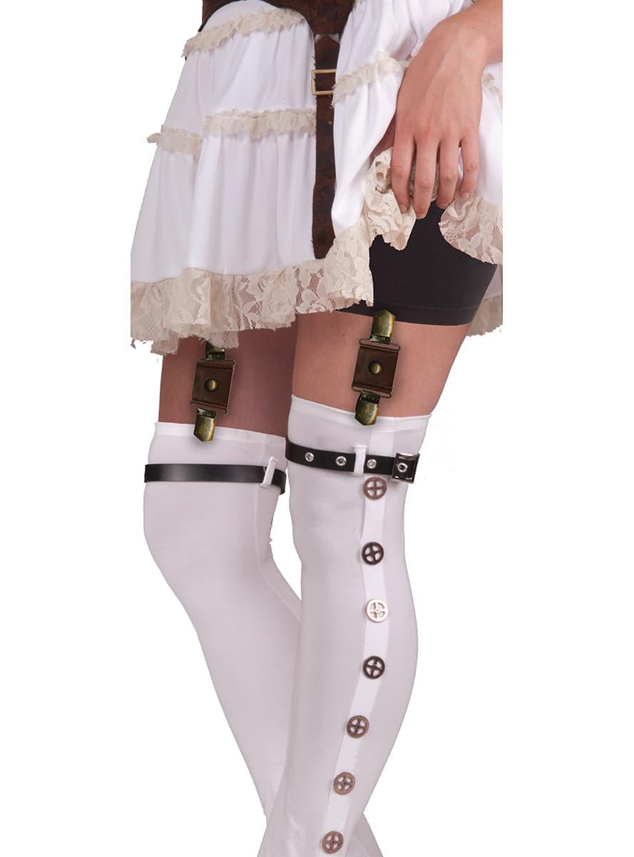 Attache porte jarretelles steampunk femme pour d guisement funidelia - Photo de femme en porte jarretelle ...