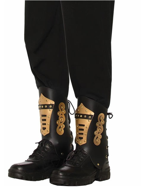 Adult's Black Steampunk Overshoes