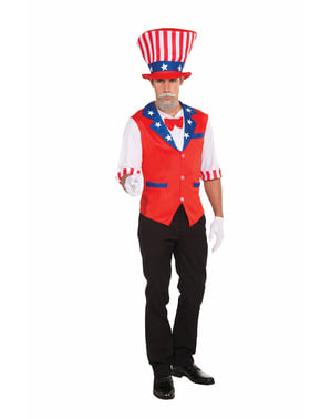 Uncle Sam Kostüm Kit für Herren