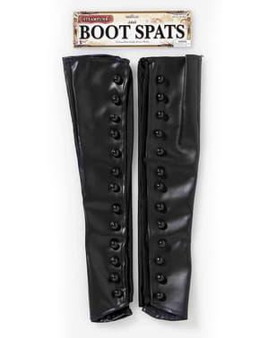 Steampunk sorte overtræksstøvler til mænd