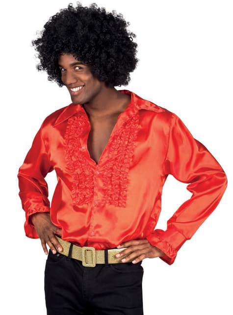 Men's Red Rumba Party Shirt