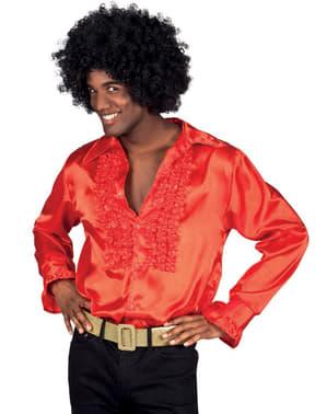 Camisa roja años 70 para hombre