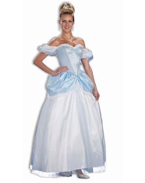 Fato de princesa de meia-noite azul para mulher