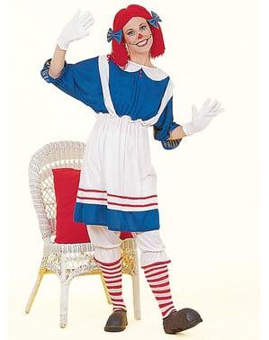 Dámský kostým pohádková hadrová panenka
