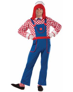 Costum de păpușă din cârpe de poveste pentru bărbat