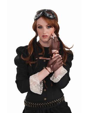Naisten Steampunk-verkkosukkakäsineet