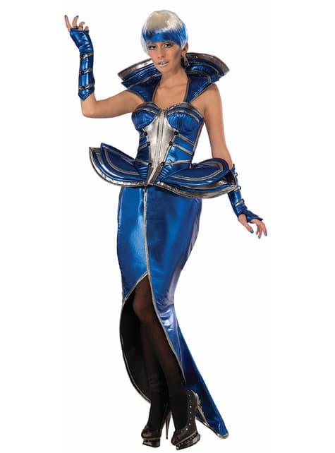 Disfraz de reina futurista para mujer