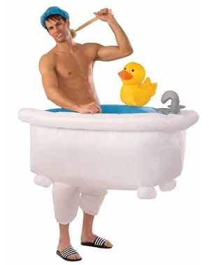 In het water met badeend Kostuum voor volwassenen