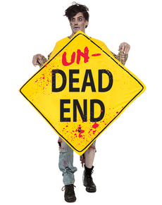 Disfraz de señal de callejón zombie para adulto