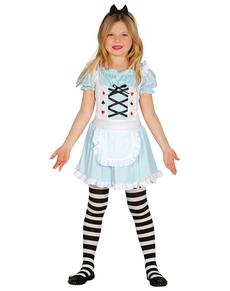 Disfraz de chica maravillosa para niña