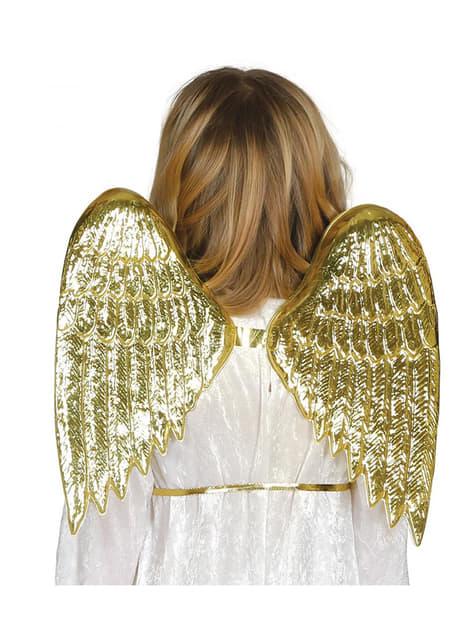 Andělská křídla dětská zlatá