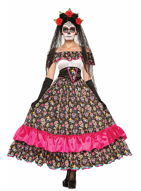Women's Catrina Mexican Death Costume