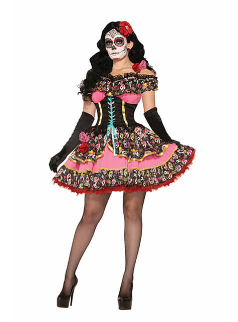 Women's Catrina Day of the Dead Costume