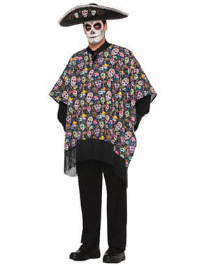 Adult's Mexican Day of the Dead Poncho
