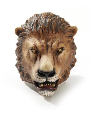Máscara de leão da selva para adulto