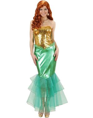 Glitrende Havfrue Kostyme Dame