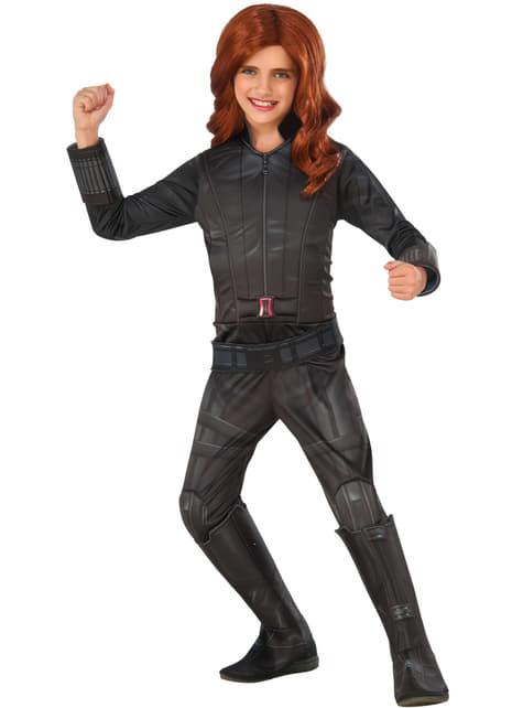 Deluxe Civil War Black Widow Captain America kostume til piger