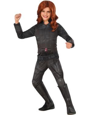 Deluxe polgárháború fekete Widow kapitány Amerika jelmez lányoknak
