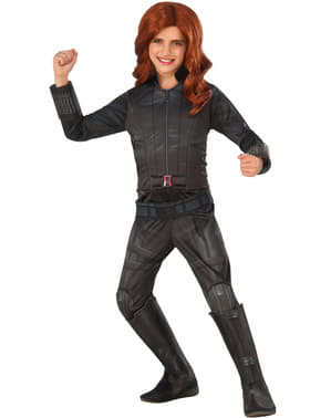 Deluxe Civil War Μαύρο χήρα Captain Αμερική κοστούμι για τα κορίτσια