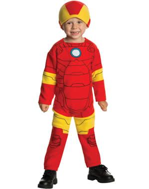 Costum Iron Man cu căciuliță pentru bebeluși
