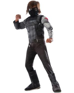 Deluxe Vintersoldat Kaptein Amerika Sivilkrig Kostyme for Gutt