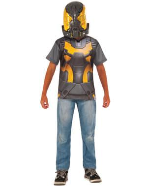 Жълто яке на момчето Мъжки костюм за мъже
