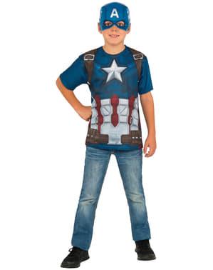 Kit fato de Capitão América: Guerra Civil para menino
