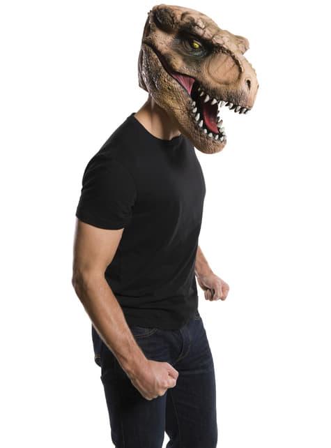 Máscara de Tiranossauro Rex Jurassic World deluxe para homem