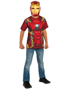 ee072252685 Kit disfraz de Iron Man Capitán América Civil War para niño