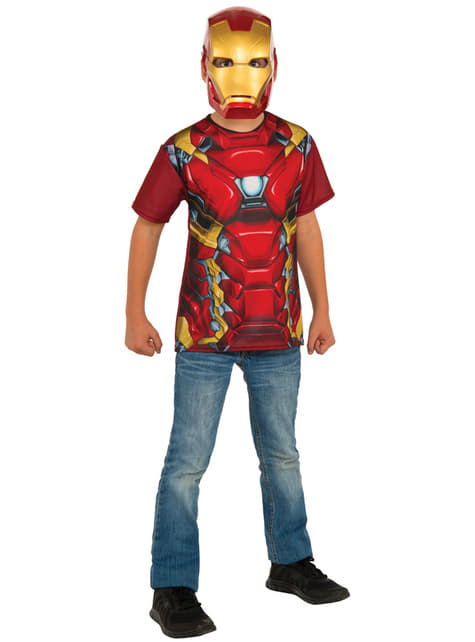Kit disfraz de Iron Man Capitán América Civil War para niño