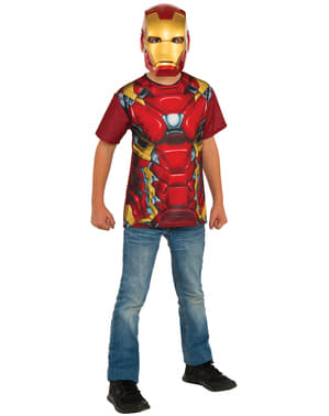 Kit costume Iron Man Capitan America Civil War per bambino