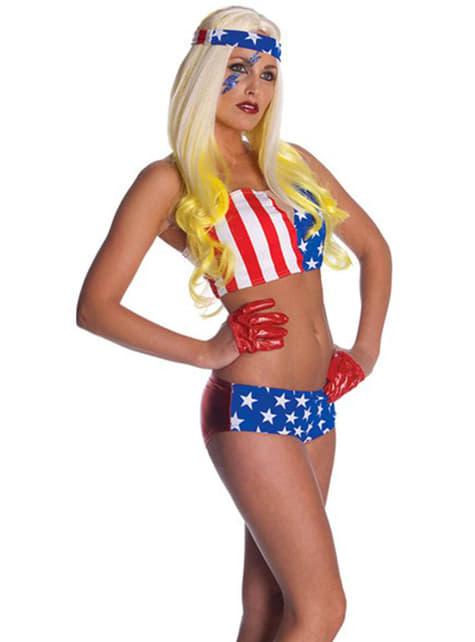 Lady Gaga USA Badedrakt Kostyme Voksen