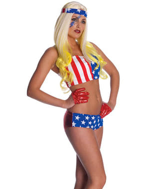 Fato Lady Gaga bandeira USA