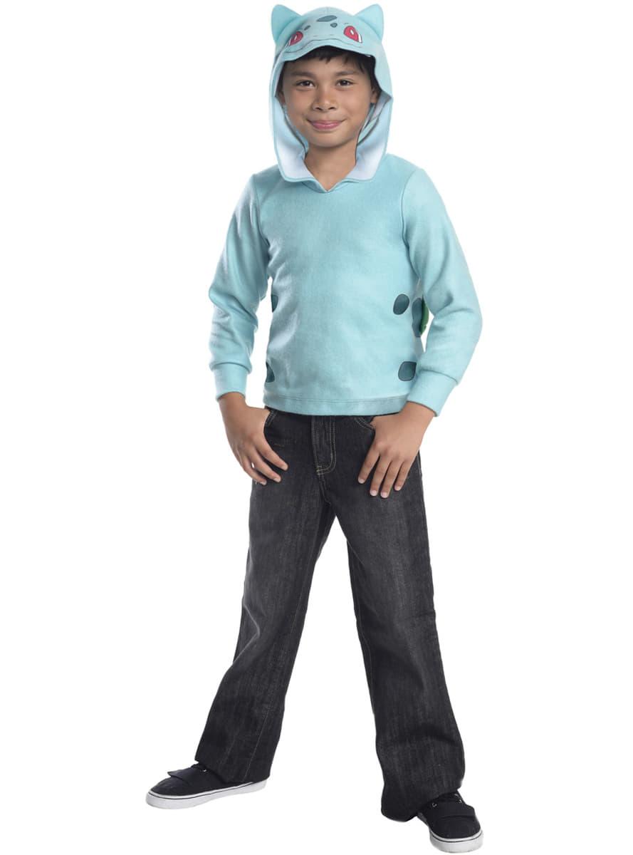 bulbasaur pokemon sweatshirt mit kapuze f r kinder f r kost m funidelia. Black Bedroom Furniture Sets. Home Design Ideas