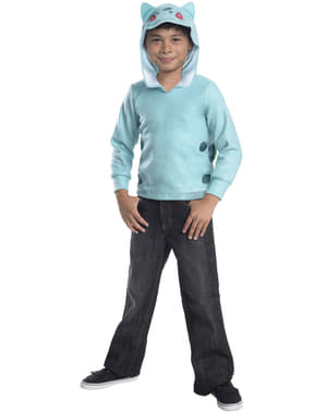 Bisasam Pokemon Sweatshirt mit Kapuze für Kinder