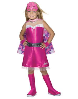 Maskeraddräkt Barbie Superhjältinna deluxe för barn