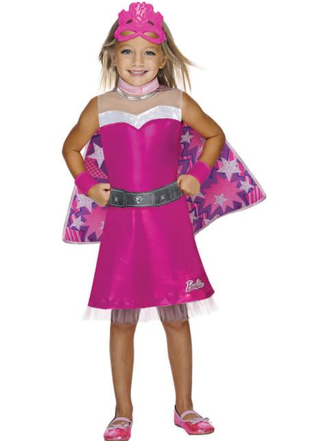 Costume da Barbie supereroina per bambina