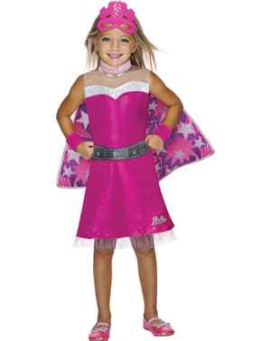 Girl's Superheroine Barbie Costume