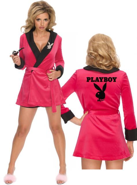 Robe de chambre sexy rose Playboy