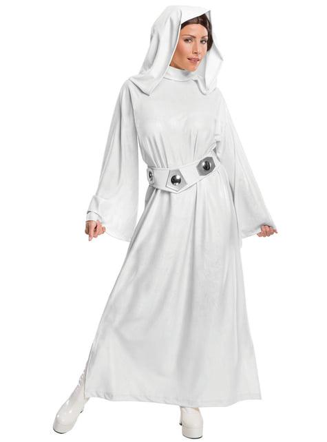 Fato de Princesa Leia deluxe para mulher