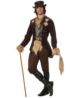 Fato de Leão Covarde O Feiticeiro de Oz steampunk para homem
