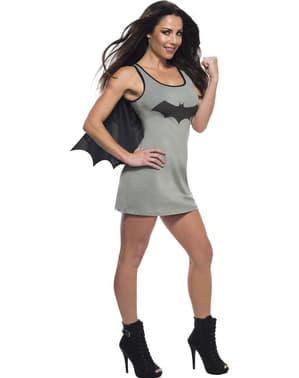 Vestido cinzento de Batgirl com capa para mulher