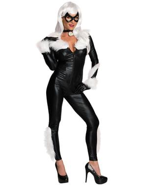 Svart Katt Kostyme til Dame - Marvel