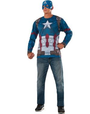 Miesten Kapteeni Amerikka Civil War -asusetti